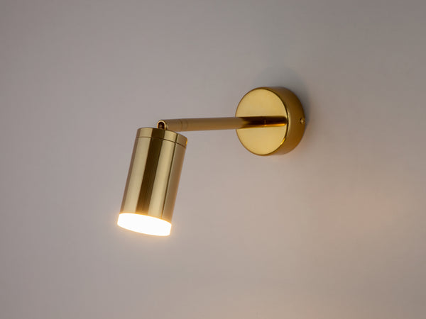 LED task wall light brass | dark | houseof.com
