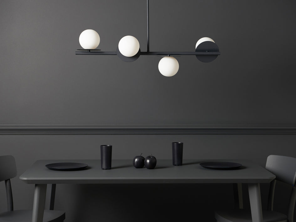 Opal disc ceiling light brass | context | houseof.com