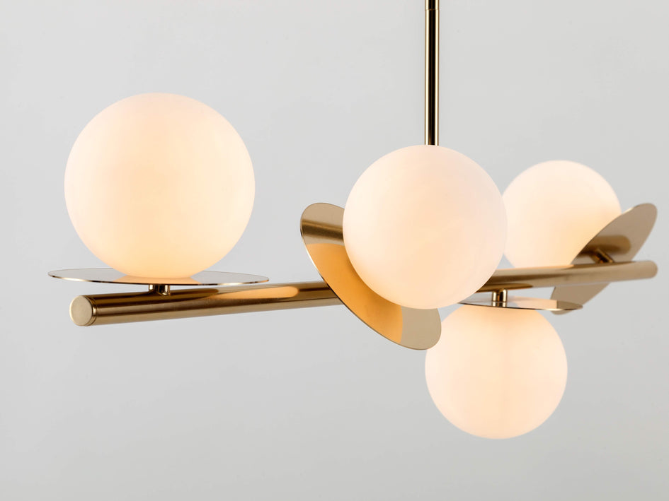 Opal disc ceiling light brass | zoom | houseof.com