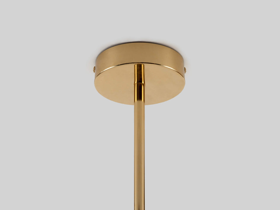 Opal disc ceiling light brass | ceiling | houseof.com