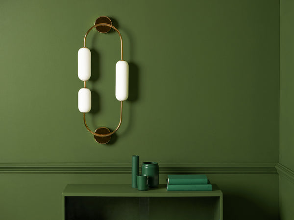 Oval wall light brass | context | houseof.com