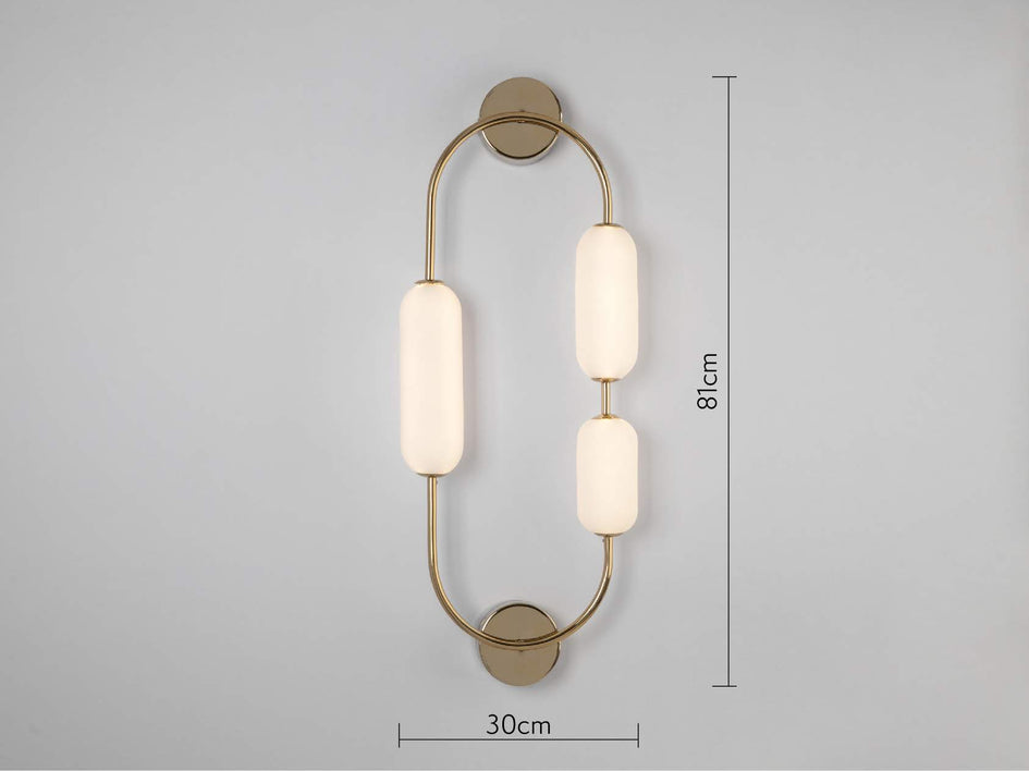 Oval wall light brass | dimensions | houseof.com