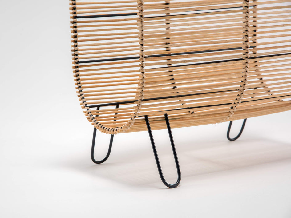 Rattan magazine rack natural | zoom | houseof.com