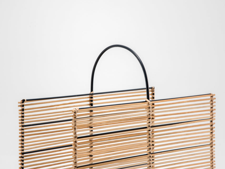 Rattan magazine rack natural | detail | houseof.com