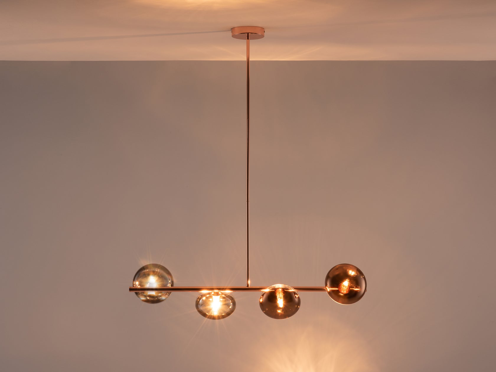 Reflective ceiling light copper | dark | houseof.com