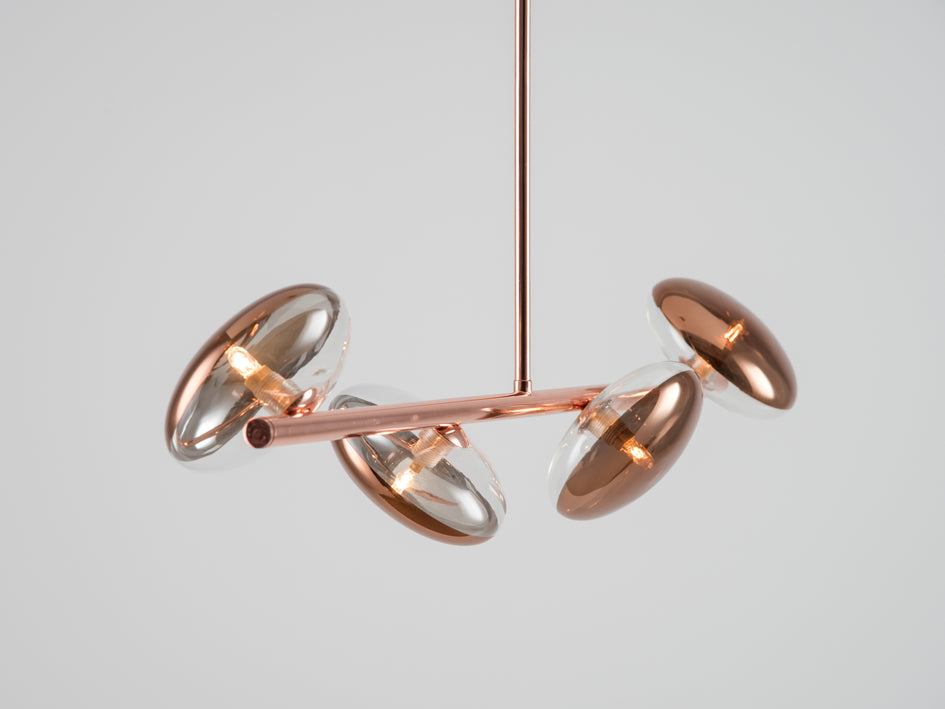 Reflective ceiling light copper | zoom | houseof.com