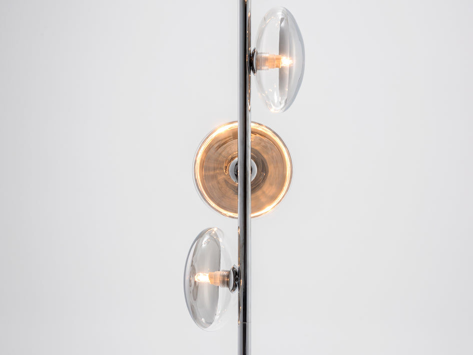 Reflective floor lamp chrome | shade | houseof.com