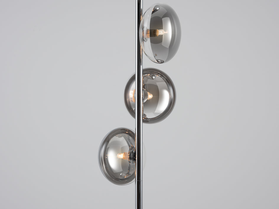 Reflective floor lamp chrome | zoom | houseof.com