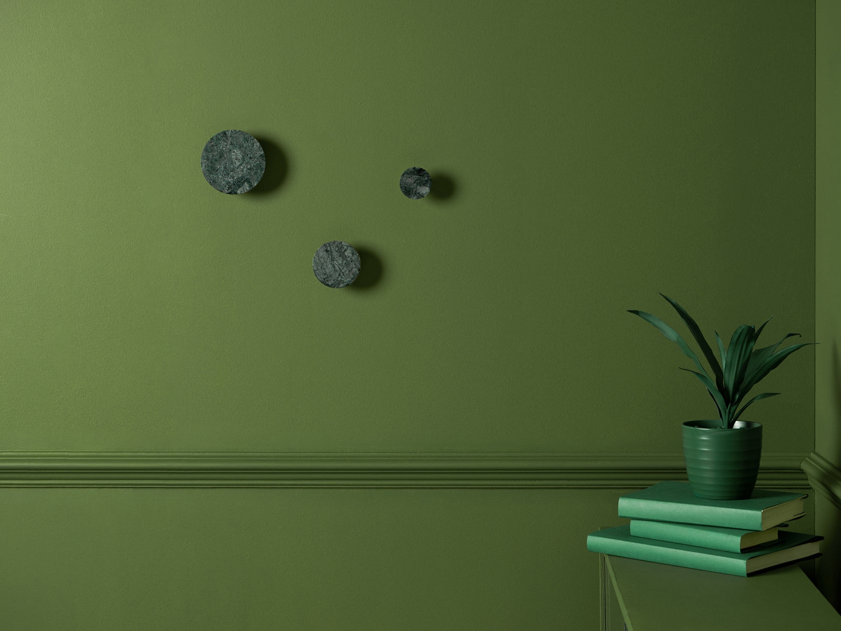 Set of marble hooks green | context | houseof.com