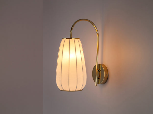 Soft fabric wall light white | dark | houseof.com