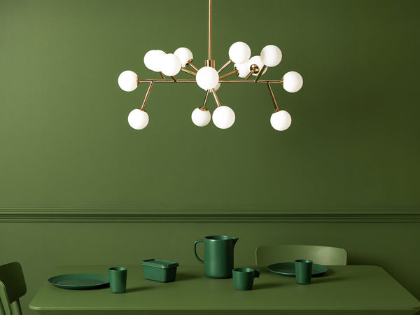 Sputnik flush ceiling light brass | context | houseof.com