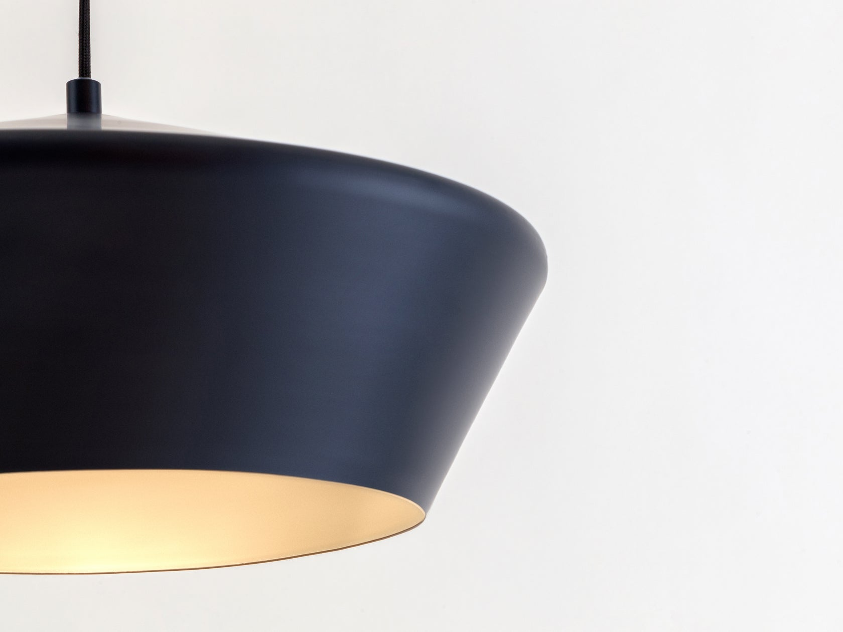 Wide metal diner pendant charcoal | shade | houseof.com