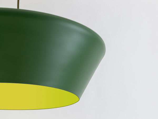 Wide metal diner pendant olive | shade | houseof.com