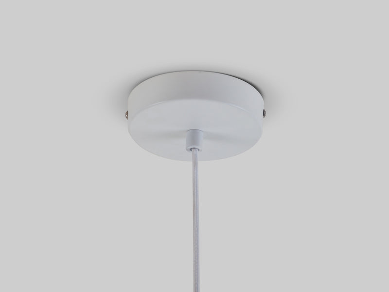 Wide metal diner pendant white | ceiling | houseof.com