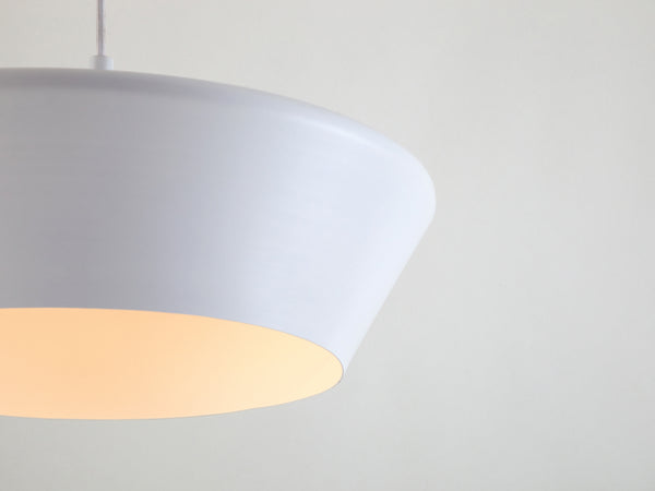 Wide metal diner pendant white | shade | houseof.com