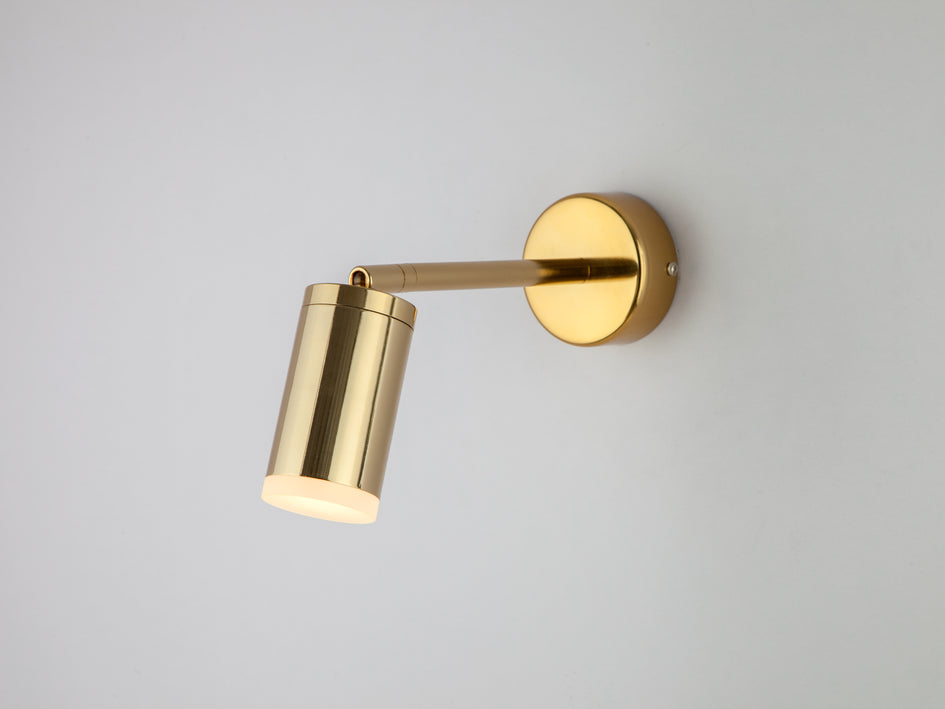 LED task wall light brass | on | houseof.com