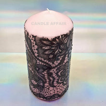 Load image into Gallery viewer, black lace candle