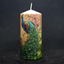 Load image into Gallery viewer, Royal peacocks Large pillar candle [product_type] Candle Affair