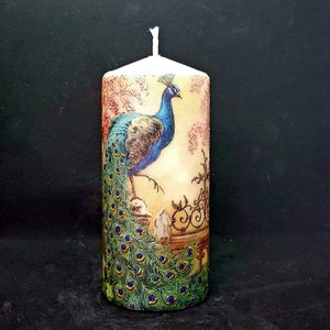 Royal peacocks Large pillar candle [product_type] Candle Affair
