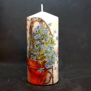 Flower Pot Large pillar candle Wax pillar candle Candle Affair