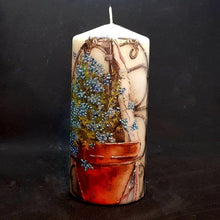 Load image into Gallery viewer, Flower Pot Large pillar candle Wax pillar candle Candle Affair