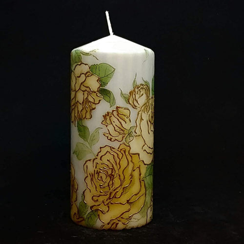 Golden Roses Floral design candle [product_type] Candle Affair