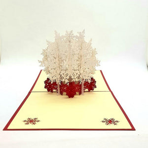 Christmas pop up greeting card - Snowflake [product_type] Candle Affair