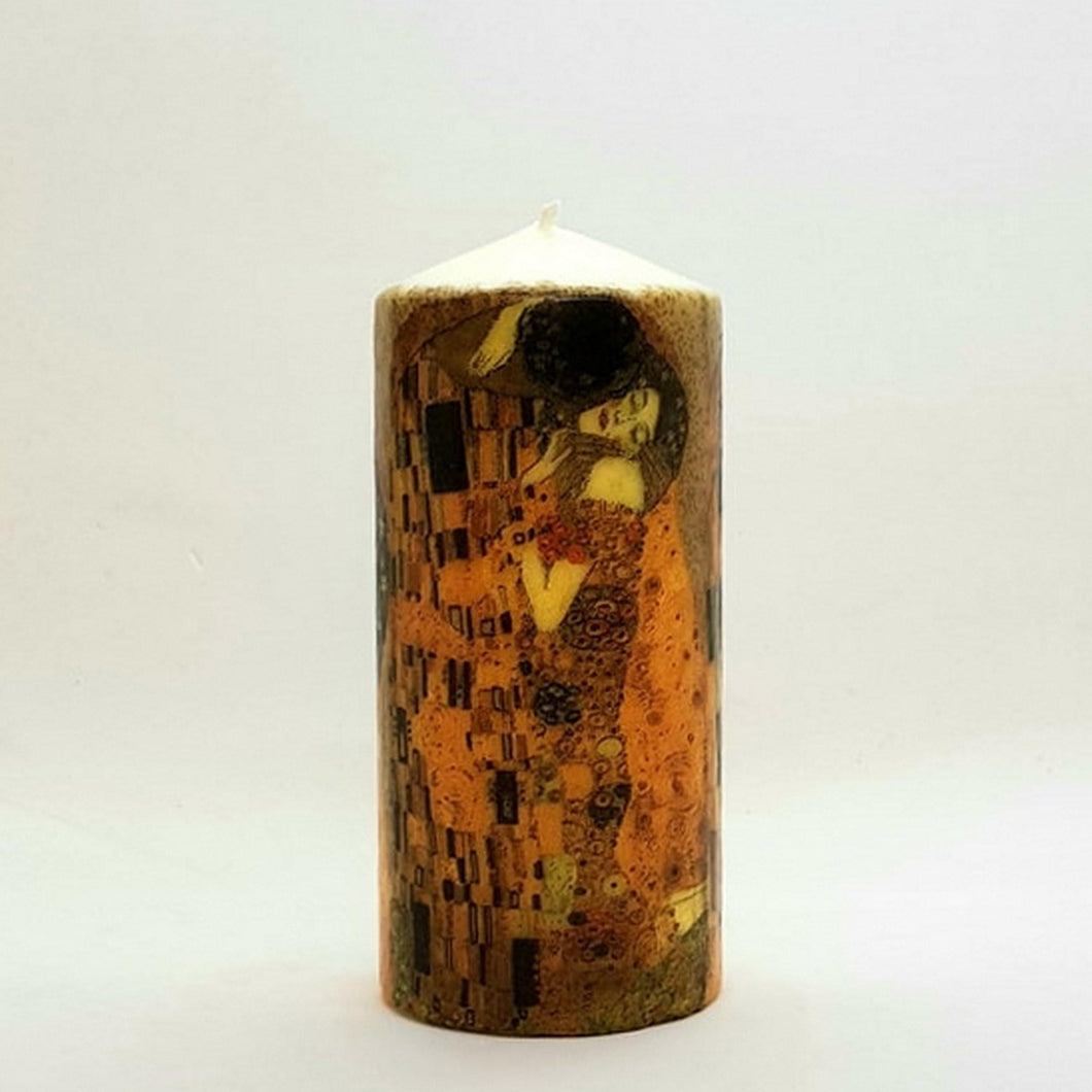 Large pillar candle The Kiss Wax pillar candle Candle Affair