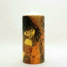 Load image into Gallery viewer, Large pillar candle The Kiss Wax pillar candle Candle Affair