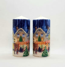 Load image into Gallery viewer, Christmas pillar candle High Street Wax pillar candle Candle Affair