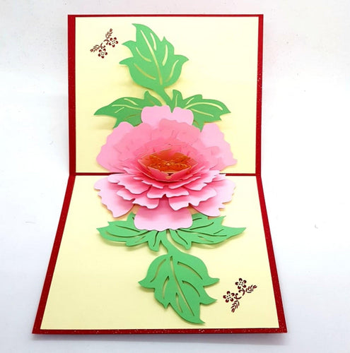 Pink Peony Pop Up Greeting Card [product_type] Candle Affair
