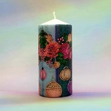 Load image into Gallery viewer, Roses and Lanterns Pillar candle [product_type] Candle Affair
