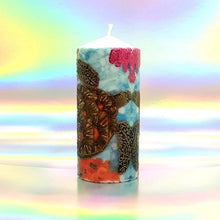 Load image into Gallery viewer, Pillar candle Mexican Sea Turtles [product_type] Candle Affair