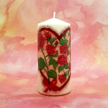 Load image into Gallery viewer, Large pillar candle Heart of Love Wax pillar candle Candle Affair