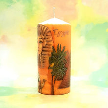 Load image into Gallery viewer, Tutankhamun Large unscented pillar candle [product_type] Candle Affair