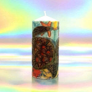 Pillar candle Mexican Sea Turtles [product_type] Candle Affair