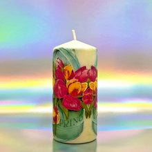 Load image into Gallery viewer, Colours of Spring Large pillar candle Wax pillar candle Candle Affair