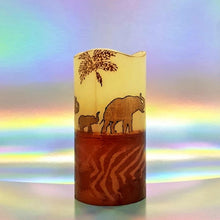 Load image into Gallery viewer, Golden Sunset LED pillar candle LED candle Candle Affair