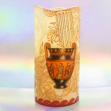 Load image into Gallery viewer, Aphrodite Real wax LED pillar candle LED candle Candle Affair