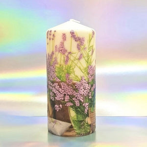 Purple Bloom Large pillar candle Wax pillar candle Candle Affair
