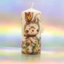 Load image into Gallery viewer, Easter hand decorated pillar candles, Easter decor and gift