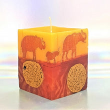Load image into Gallery viewer, Scented candle, Aromatherapy candle, Unique art candle, Elephant sunset design