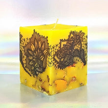 Load image into Gallery viewer, Large scented candle, Handmade aromatherapy candle, Ylang Ylang scent, Unique hand decorated gift