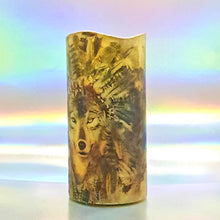 Load image into Gallery viewer, LED pillar candle, White wolf decorative candle, Unique home decor, gift, art candle
