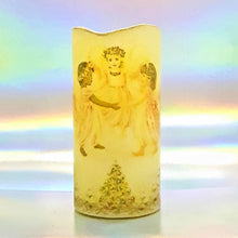 Load image into Gallery viewer, Three Angels Christmas LED flickering flameless pillar candle, unique Christmas decoration, gift, safe for children and pets