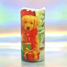 Load image into Gallery viewer, Christmas Flickering LED pillar candle, unique Christmas flameless decoration, gift, snow candle, safe for children and pets