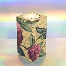 Load image into Gallery viewer, Wooden tea light candle holder, unique home decor, gift, house warming present, tropical paradise