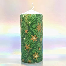 Load image into Gallery viewer, Christmas pillar candles, unique home decor, Christmas centrepiece, gift for her, mom, friend, family
