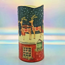 Load image into Gallery viewer, Christmas LED pillar candle, flameless decorative Santa candle, gift, night light, decor