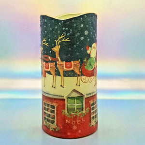 Christmas LED pillar candle, flameless decorative Santa candle, gift, night light, decor